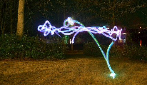 Light Painting With The Family