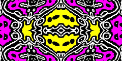 Fridge Magnet Dec 19 (joybidge) Tags: wild canada art vegan artist awesome vivid colourful ornate psychedelic kaleidoscopic detailed alteredimage fractallike coloursplosion naturepatternscanada philscomputerart magicalgeometry inkblottishdesigns