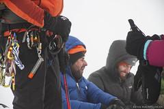 Hogsback Waiting (Kevin Machtelinckx) Tags: mountain snow ice sports clouds oregon sunrise canon landscape climb atmosphere adventure mthood 7d hood climber cascade mountaineer