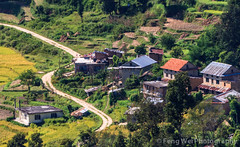 Winding Road, Nagarkot-ChanguNarayan trek, Nepal (Feng Wei Photography) Tags: travel nepal house color green tourism nature beautiful beauty horizontal rural trek relax landscape scenery colorful asia outdoor relaxing scenic peaceful tranquility np lush tranquil scenics windingroad nagarkot bagmati