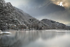 Lake in Winter (Mario Vani) Tags: pictures winter wild wallpaper italy lake snow art nature water sunrise canon landscape lago photography lights photo community gallery foto fotografie photos web photographers social natura fresh professional creation commercial neve online awards portfolio acqua share paesaggio seconds fotoshop digest outstanding photograp thefoto mariovani ahitectural