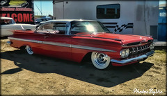 '59 Chevy Impala (Photos By Vic) Tags: old red classic chevrolet car vintage automobile antique chevy vehicle impala carshow 59 1959