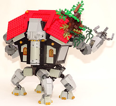The Mecha Mage's House (Librarian-Bot) Tags: house castle walking robot lego wizard magic machinery creation mage mecha moc castlepunk