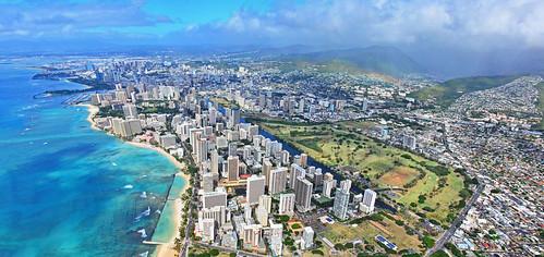 Waikiki and Honolulu Hawaii