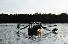 at river (Ruby Ferreira ) Tags: trees sunset sky river boat rainforest barco prdosol ripples bertiogasp litoralnortepaulista brasilemimagens rioitapanhu