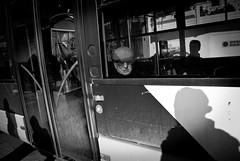 IMGP7904 (nektarios theodorakis) Tags: street people urban bw streets bus photography blackwhite ride pentax watching streetphotography k10d pentaxk10d