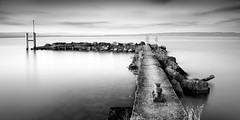 FISHER GIRL (Tarik Bouamri) Tags: longexposure france water blackwhite nikon fineart ghost lac evian minimalism lman espace manfrotto d800