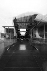 Untitled. (RFVT) Tags: blackandwhite berlin architecture reflections reichstag ricohgr urbanlandscape urbanvisions humanfactor lostinberlin humaningeometry urbancompo ricohmods