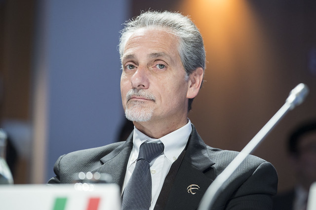Enrico Finocchi at the Closed Ministerial Session