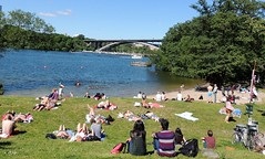 City beach (bokage) Tags: bridge beach water sweden stockholm bokage