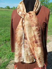 Etsy007 (2) (theresaknits) Tags: silk printing scarves dyeing eco