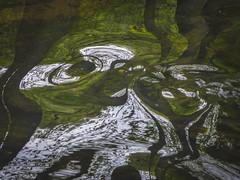 Spin (Lisbeth Pettersen) Tags: abstract green nature water reflections river landscape spin natur mirrors abstrakt landskap elv grnt speiling reflekser speilinger gjersjelva snurrer