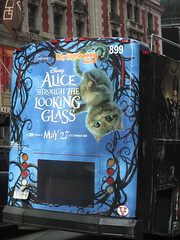 Alice Through the Looking Glass Bus Billboard 9151 (Brechtbug) Tags: street new york city nyc bus film glass cat movie tim looking cheshire near alice broadway lewis disney double billboard johnny billboards carroll through mad depp avenue wonderland 7th 42nd hatter burtons decker in 2016 05192016