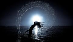 Mermaid (Lior. L) Tags: sunset sea motion monochrome silhouette wow blackwhite mermaid brilliant