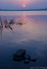 And the Sun presides (sakthi vinodhini) Tags: sun india lake sunrise fishing fishermen tamil nadu cwc chengalpet kolavai cwc530