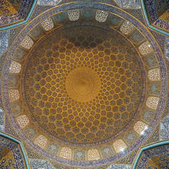 Intrieur de la mosque du Cheikh Lotfallah, Isfahan, Iran #2 (TournicO) Tags: longexposure art angle iran sony islam wide du dome uga fullframe a7 islamic isfahan roi mosque coupole samyang chiite espahan