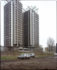 Katowice, Poland. (wojszyca) Tags: city urban 120 mamiya architecture mediumformat kodak modernism shift highrise socialist epson 6x7 katowice portra gossen 160 rz67 75mm 4990 stalexport lunaprosbc