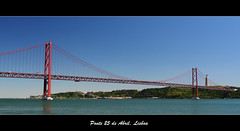 Ponte 25 de Abril, Lisbon (kalakeli) Tags: blue monument bridges rivers tejo ponte25deabril tagus tagusriver denkmal brcken flsse tejoriver christthekingstatue nationalsanctuaryofchristtheking
