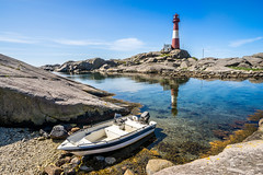 Perfect day for a boat trip to the lighthouse (Richard Larssen) Tags: blue sea lighthouse seascape reflection norway landscape boat norge sony norwegen unesco richard alpha scandinavia geo fyr magma rogaland anorthosite fyrtrn a7ii geopark eigeryfyr egersund sonyalpha eigersund larssen eigery eigeroy eigerya teamsony emount anortositt richardlarssen eigeroyfyr eigerylighthouse eigeroylighthouse