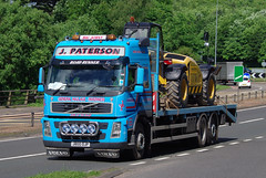 J Paterson Haulage of Inverness Volvo FM J800OJP on the A90, Dundee, 20/6/16 (andyflyer) Tags: transport lorry a90 haulage hgv roadtransport volvofm jpatersonhaulage j800ojp