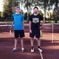 Erik Wirn och Fredrik Trygg 2014-06-08 (Michael Erhardsson) Tags: sport tennis final htk 2014 hallsberg hallsbergstrffen finalister