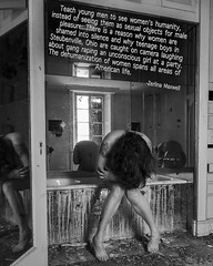 178.366 (sadandbeautiful (Sarah)) Tags: bw woman selfportrait abandoned me female self feminism day178 366 366days rapeculture 366daysx7