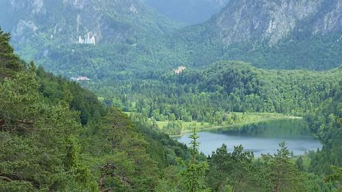 Schwansee, Neuschwanstein und Hohenschwangau