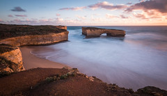london bridge (hasmix) Tags: ocean sunset beach water rock landscape arch victoria greatoceanroad