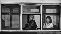'Two's a Crowd, Three's Company' (Canadapt) Tags: two woman man portugal window trolley lisbon seat duo tram tourists streetcar alfama canadapt