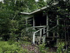 Brooding and Forgotten (curtissampson) Tags: old urban house building abandoned home mobile dark woods exploring structure creepy explore forgotten brooding trailer exploration isolated backwoods urbex urbexing