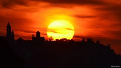 Zemun (Gardos) at sunset (Ecopulse) Tags: sunset red sky tower history monument europe serbia culture millennium historical belgrade beograd belgrad balkan serbian zemun gardos millenniumtower gardosh gardoshill