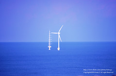 offshore wind energy. (kota-G) Tags: ocean coast pacific choshi