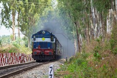 CMGR - YPR FP (B V Ashok) Tags: ir ed hei fp sr erode alco indianrailways swr 14668 56277 wdg3a fastpassenger cmgrypr heggere chikmagaluryeshwantapur