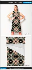 Vintage Check Ornate Textile Pattern (Daniel Ferreira-Leites) Tags: abstract geometric diamonds vintage print design check pattern style textile ornate baroque borders bold patterned patternbank seamlessmgeometrical