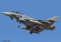 GERMAN AIR FORCE LUFTWAFFE. Eurofighter 2000. (Rodrigo Tran Corts) Tags: spain tiger zaragoza base tigre spotting nato otan tigermeet maniobras garrapinillos ntm2016