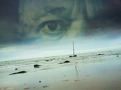 The sea... being me (jaap spiering | photographer) Tags: sea portrait people man color colour men beach me nature face mobile clouds strand coast wolken zee mens portret mensen kust gezicht kleur jaapspiering jaapspieringphotographer jaapspieringfotografie
