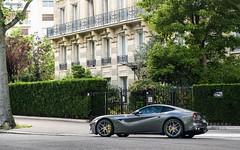 Grigio Parigot. (misterokz) Tags: street paris car photography ferrari voiture exotic rue supercar spotting f12 berlinetta carspotting misterokz