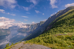 Camping with a view (huddart_martin) Tags: norway norge aurland aurlandsfjorden vestlandet westcoast camping tent mountains fjord fjords sky clouds summer view amazing beautiful landscape nature sony a99