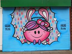 Miss Wah (surreyblonde) Tags: upfest bristol 2016 upfest2016 uk streetart graffiti walls hoardings boards can spray stencils urbanart artfestival streets canon g15 surreyblonde wah misswah hugs littlemisshugs
