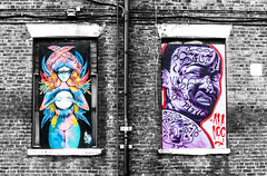 angry fortune teller on the wall contrasts (PDKImages) Tags: urban streetart art mill abandoned beauty lady contrast manchester graffiti eyes colours anger lips fortune hidden angry drama fortuneteller unexpected teller liom