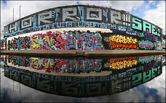 Various... (Alex Ellison) Tags: urban graffiti graff halloffame hof horror bc burningcandy rollergraffiti sae1 616 ifonlyclosedmindscamewithclosedmouths snoe trp therollingpeople mean pfb 2rise gw ghostwriters pkaso sony 29 29ers 1t reflection reflected seks huma