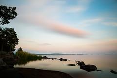 vnern lake at the evening (www.carbonat380.de) Tags: 28 europe gx7 haida himmel landscape landschaft lumix mft microfourthirds nd1000 nd64 nd8 ndfilters panasonic panasonic1235 panasonicgx7 wolken x blue clouds lake light longexposure nature sea silhouette sky sundawn sweden travel travelphotography