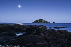 Moonlit Mewstone 2 (scott calnon) Tags: moonlit mewstone heybrook heybrookbay devon nightscape atmospheric beautiful artistic photographer nikon d810 nikond810 seascape
