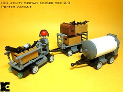 Utility Segway Porter Variant (icycruel) Tags: lego military utility charlie vehicles scifi segway outpost moc