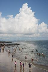 Mountain (dtanist) Tags: nyc newyork newyorkcity new york city sony a7 contax zeiss carlzeiss carl planar 45mm brooklyn coney island beach cumulonimbus cloud mountain shore sea sand clouds