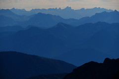 All Blue Fade To the Leaning Towers (Dru!) Tags: devilsrange blaner atmosphericperspective silhouette kootenays westkootenays columbiamountains leaningtowers slocan bc britishcolumbia canada mountain haze bluemountains distant ranges