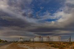 Silos and Tanks Pelican Point (johnwilliamson4) Tags: adelaide blue clouds fence industrial road silos sky southaustralia tanks viterra pelicanpoint australia