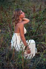 (adrianopuca) Tags: driednymph nymph ninfa woods countryside campo erba weeds gun roses rose guns pistola trigger ritratto portrait primopiano figuraintera lap whitedress vestitobianco knees zara blonde hair curls wavyhair allaperto persone people natura nature