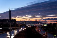 Coucher de soleil sur Alger (Ath Salem) Tags: alger algiers algrie algeria afrique du nord baie nuit night lights lumires highway autoroute coucher de soleil sunset fontaine        mohammadia
