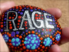RAGE (suenosdeuomi) Tags: pebble rage found objecttrouvee rock trump nevertrump